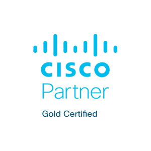 Partner logo Gold Cisco Blue