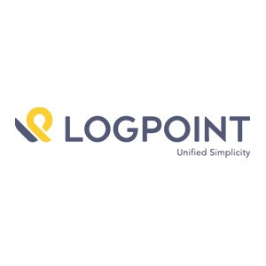 logpoint logo on white