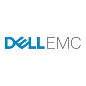 dell emc logo on white