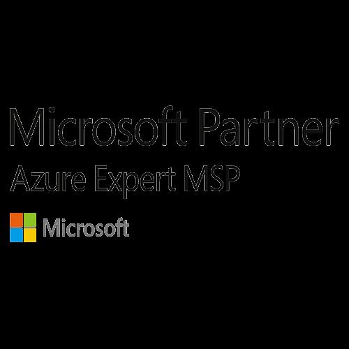 microsoft gold partner logo on white