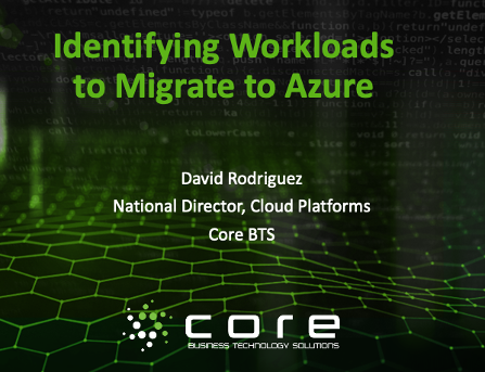 identifying workloads to migrate to azure