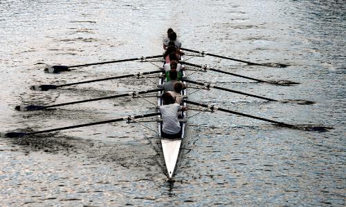 Major team effort rowing boat