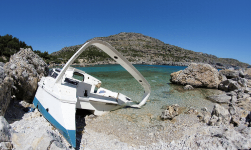 Error handling crashed boat