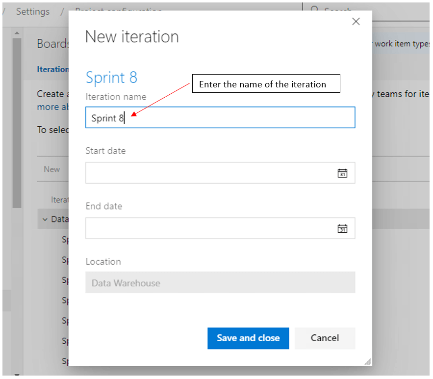 azure devops sprint iteration naming