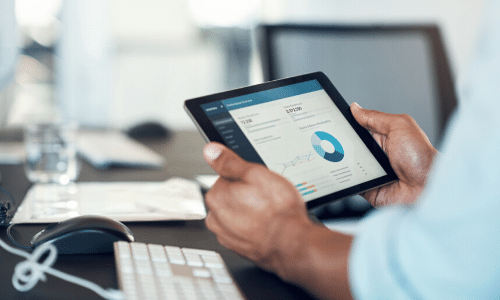 Power BI reports on tablet