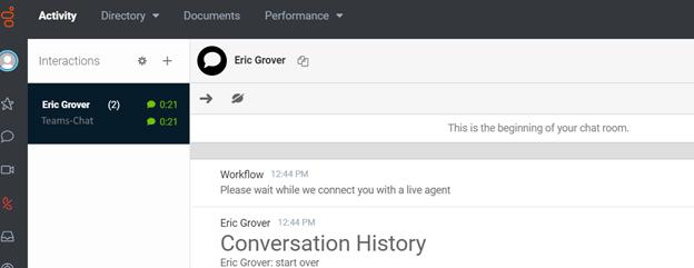 user root ai bot conversation transcript purecloud